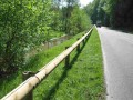 Wooden guardrail post
