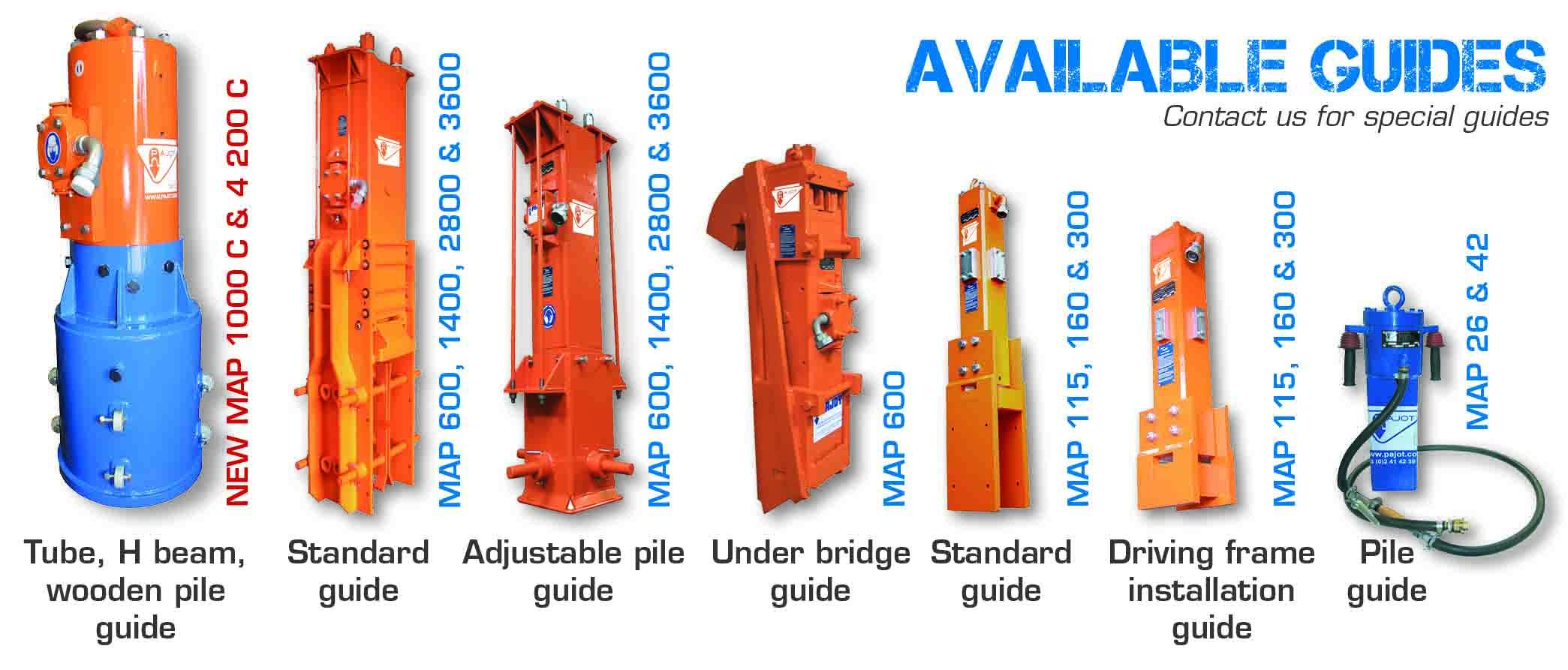 Conventional PAJOT pneumatic pile drivers– Pajot equipment